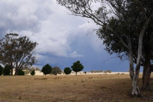 Summer storm approaching our farm