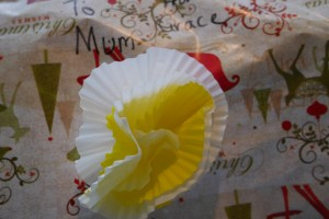 Gift tags made from cupcake patties
