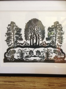 Paper cut image. $50 framed. Bargain!