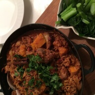 Lamb, Pumpkin and Orzo casserole