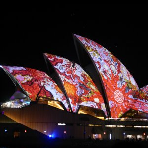 Opera House lit up during Vivid