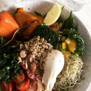 A quick visit to Melbourne found me at a fab little restaurant in Richmond and this super healthy lunch.