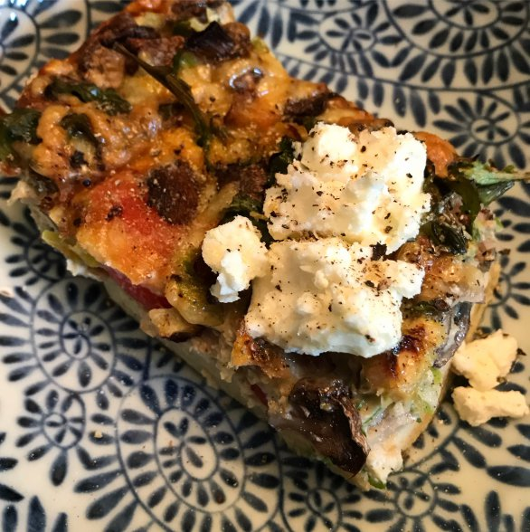 Mushroom, Rocket and Thyme frittata