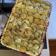 Potato and zucchini tart